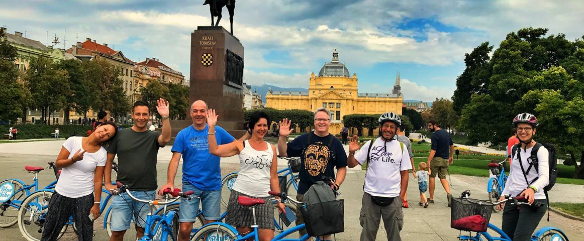 Bike tour Zagreb with Blue Bike