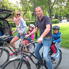 families on bike tours